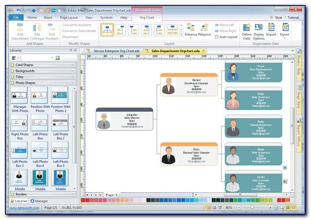 Org Chart Visio Template Download