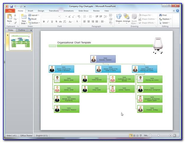 Organizational Chart Sample Word Document