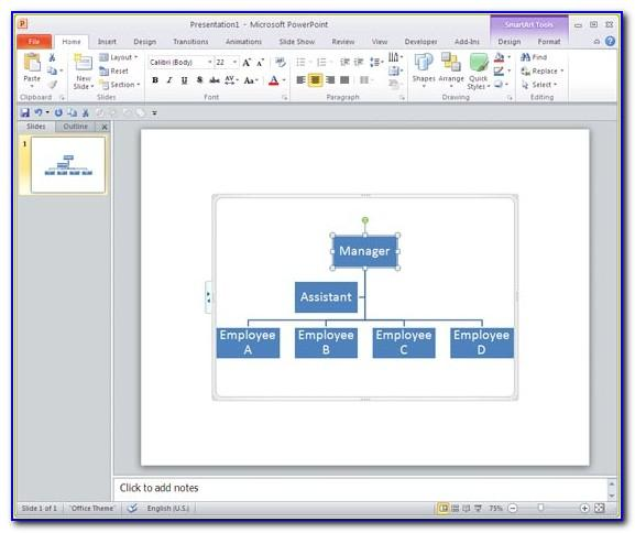 Organizational Chart Template For Powerpoint 2010