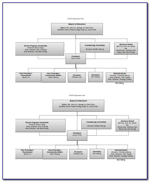 Organizational Chart Template Pdf