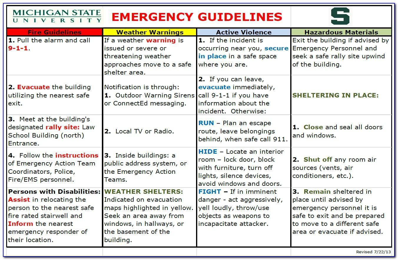 Osha Emergency Action Plan Form
