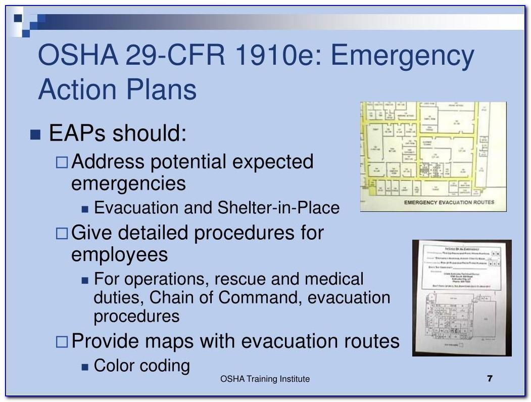 Osha Evacuation Map Template