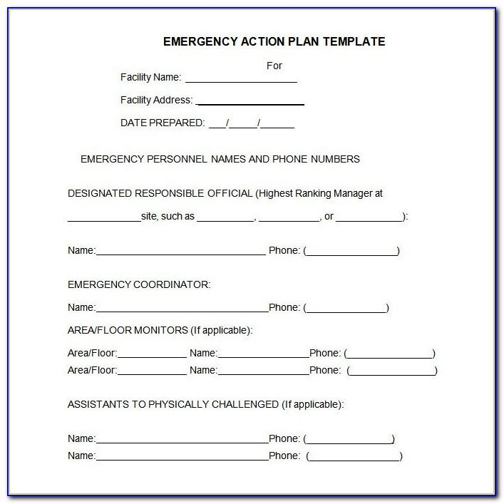 Osha Fire Evacuation Plan Template