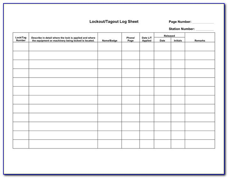 Osha Lock Out Tag Out Procedure Template