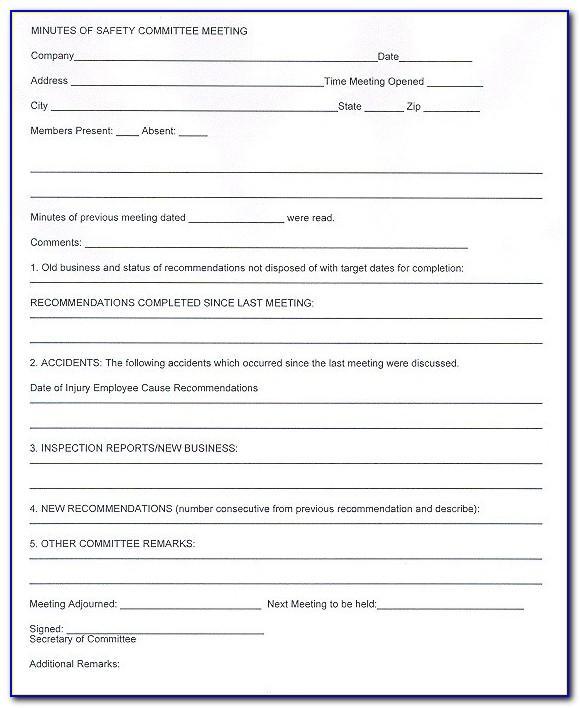 Osha Written Safety Plan Template