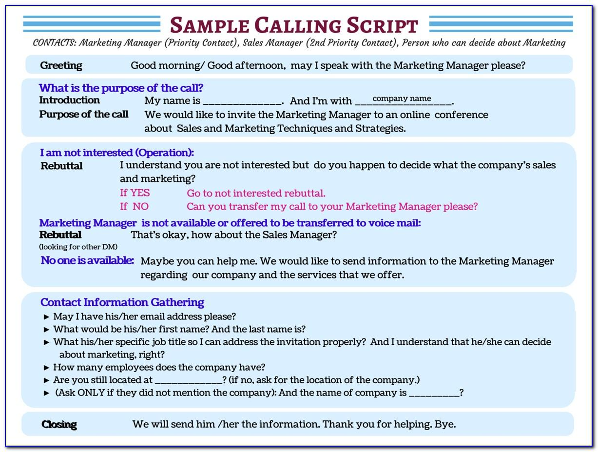 Outbound Call Script Example
