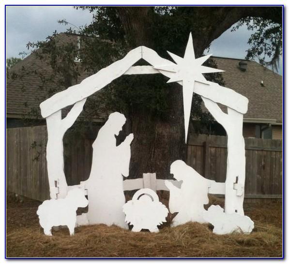 Outdoor Nativity Scene Template