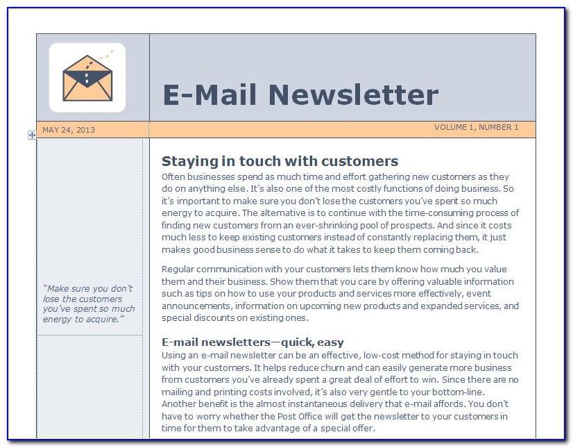 Outlook E Newsletter Templates