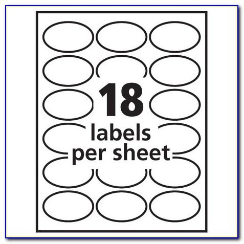 Oval Label Template Avery