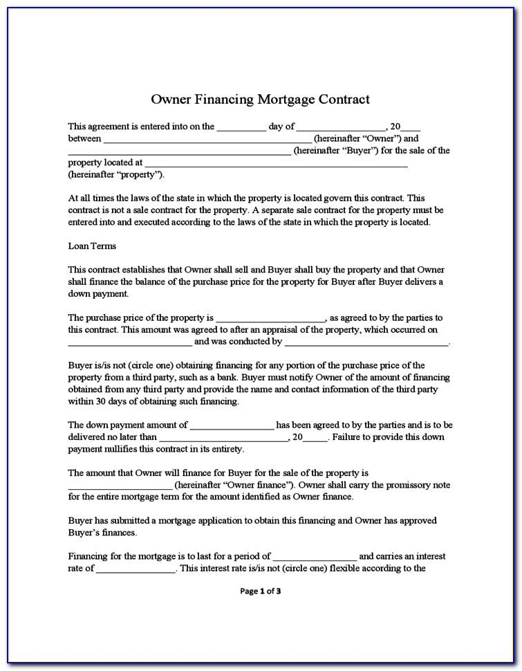 Owner Finance Contract Template