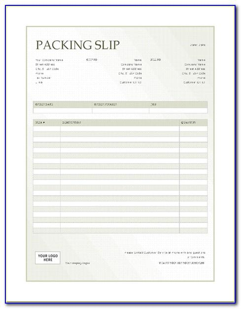 Packing Slip Format For Export
