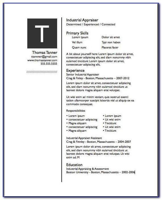Pages Resume Template Free