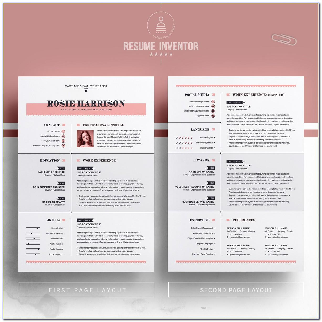 Pages Resume Templates 2018 Free