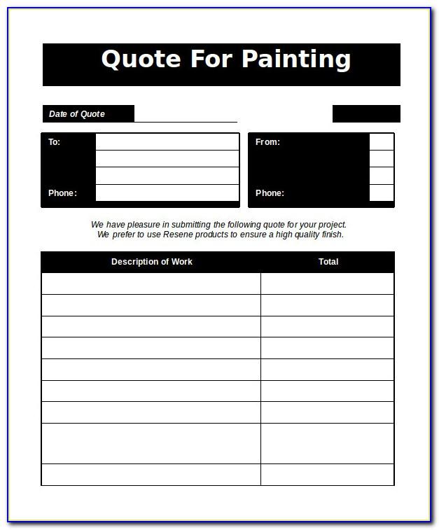 Painting Quotation Template Word