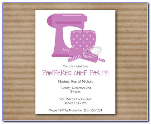 Pampered Chef Invitation Template Free