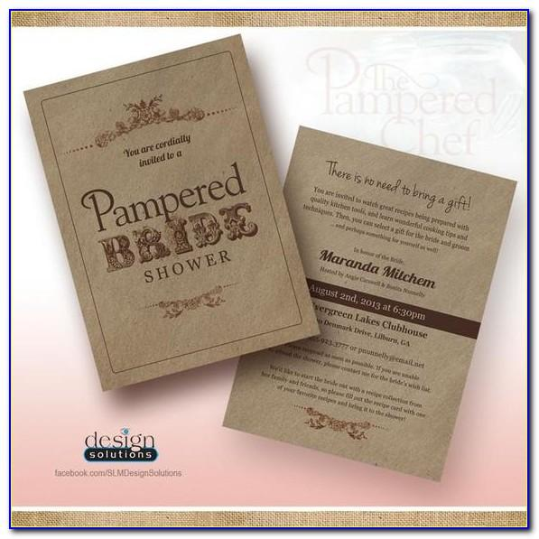 Pampered Chef Invitation Template