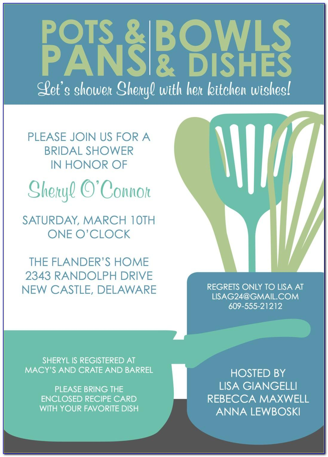 Pampered Chef Party Invitation Wording