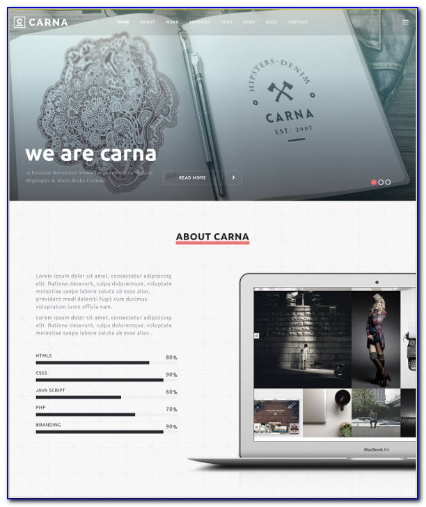 Parallax Website Template Free Download