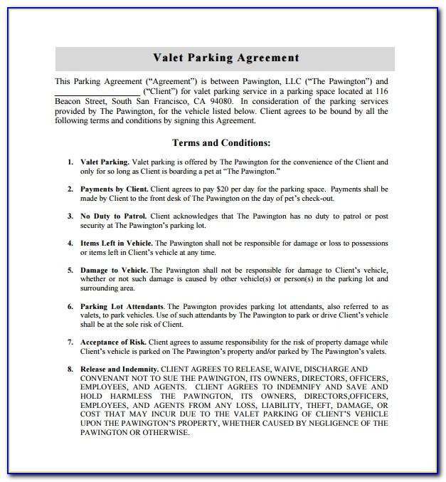 Parking Pass Hang Tag Template