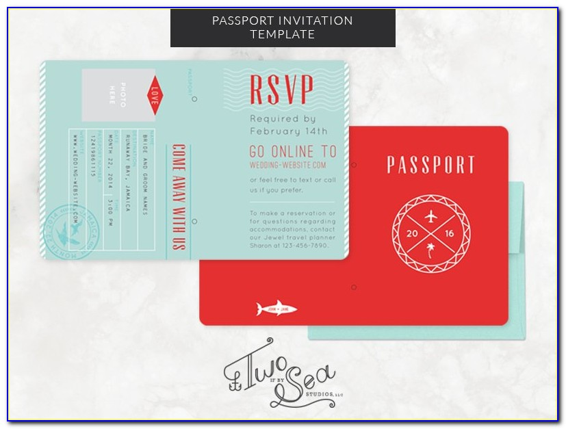 Passport Wedding Invitation Design