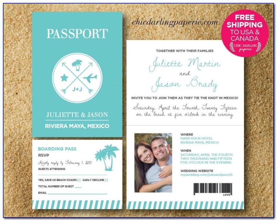 Passport Wedding Invitation Template Philippines
