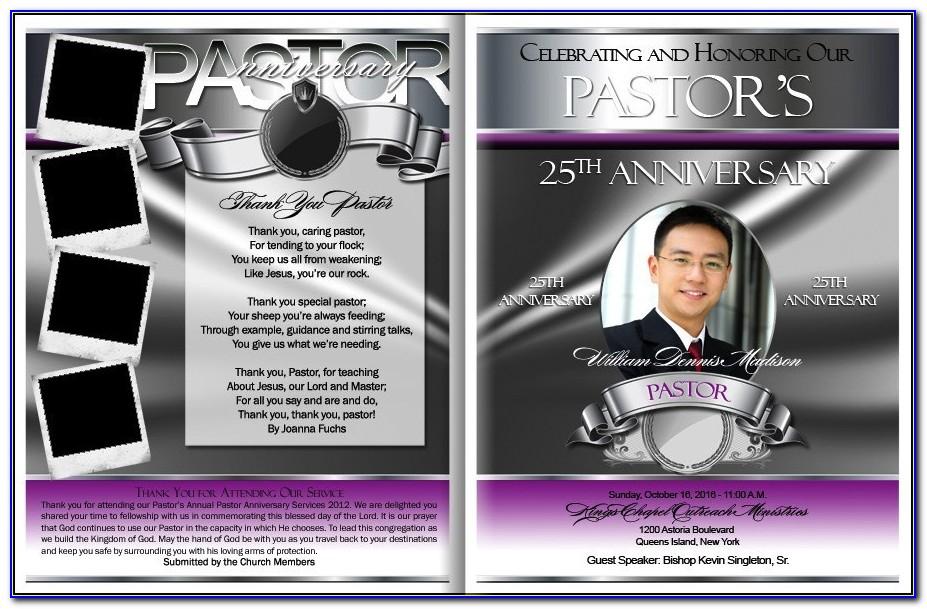 Pastor Anniversary Program Samples