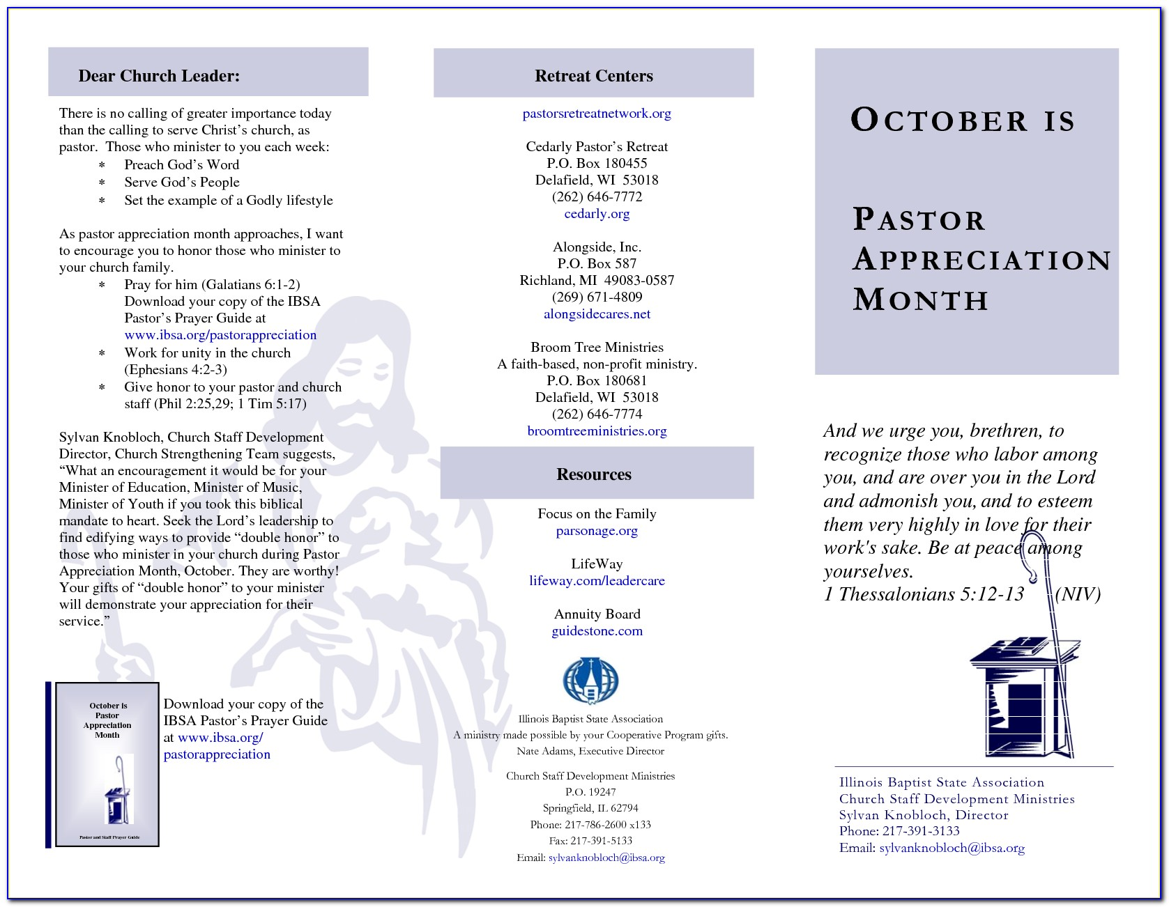 Pastor Appreciation Banquet Program Template