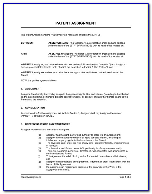 Patent License Agreement Template Uk