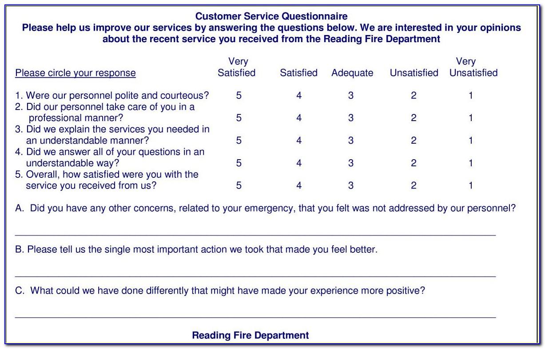 Patient Satisfaction Survey Questionnaire Hospital