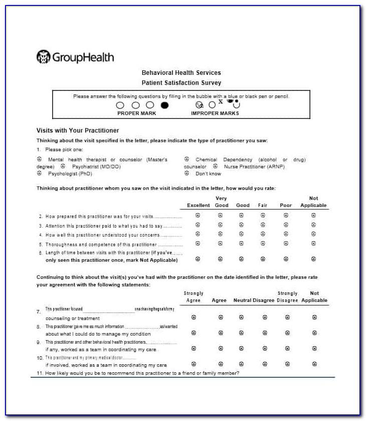 Patient Satisfaction Survey Questionnaire Laboratory