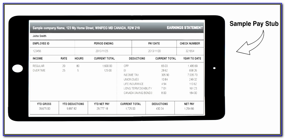 Pay Statement Template Free