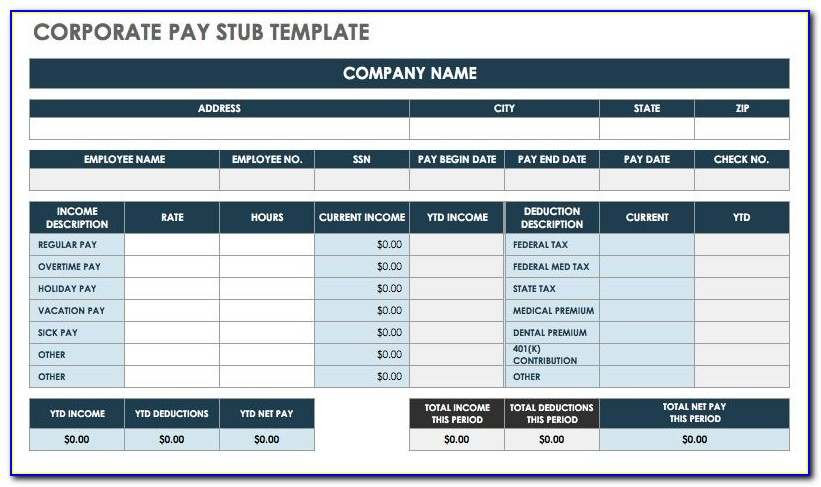 Pay Stub Template Word Free