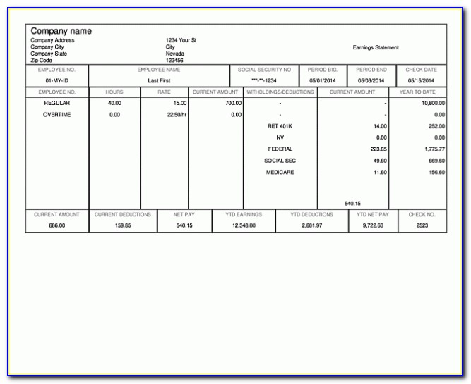 Paycheck Calculator Excel Template
