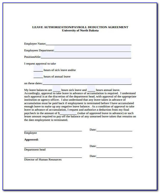 Payroll Advance Agreement Form