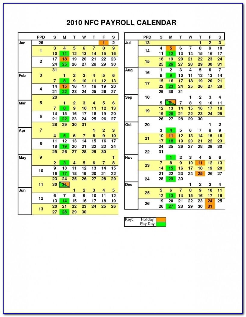 Payroll Calendar Template 2014