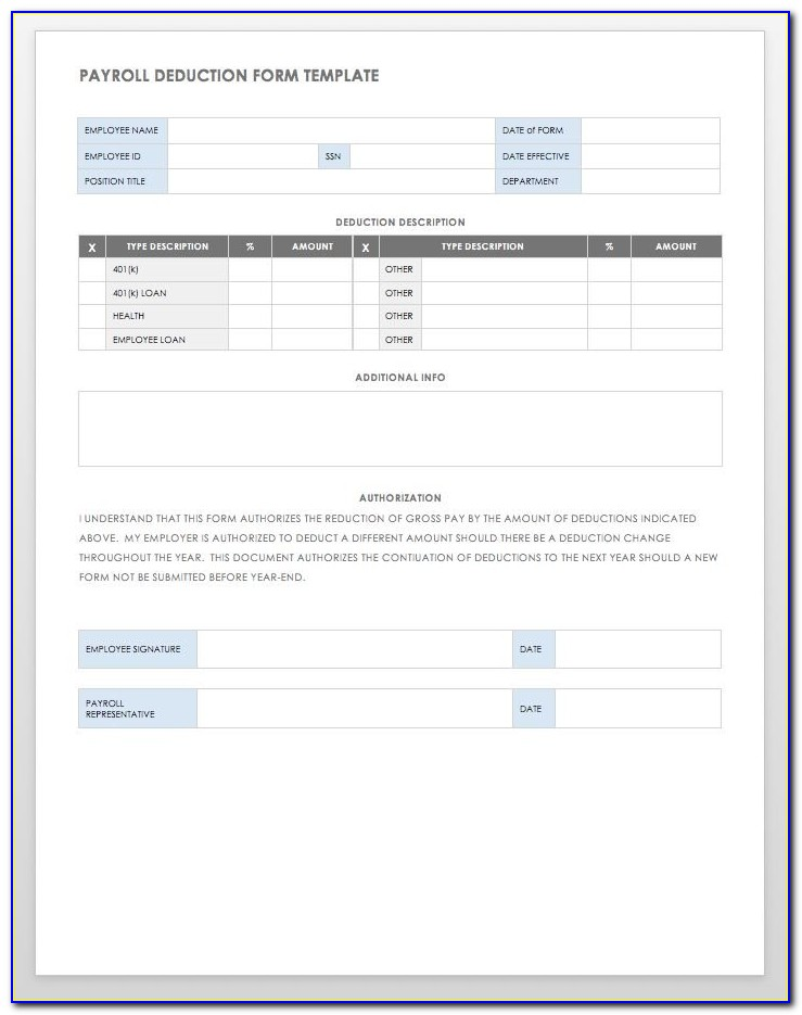 Payroll Change Form Template Word