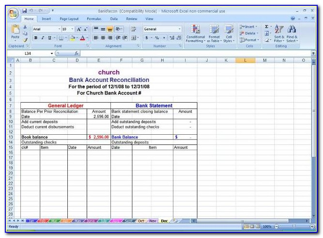 Payroll Reconciliation Format In Excel