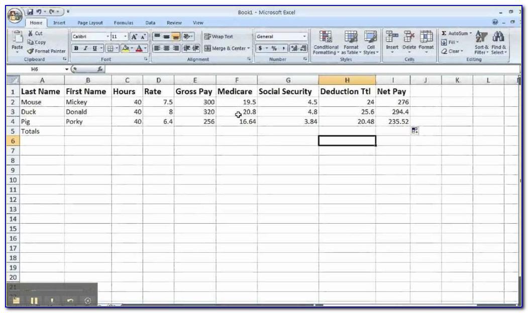 Payroll Spreadsheet Excel Template Australia