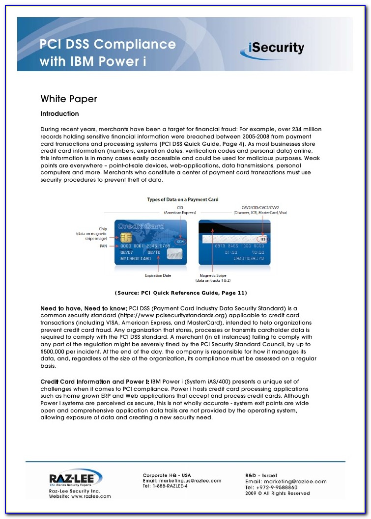 Pci Compliance Policy Example