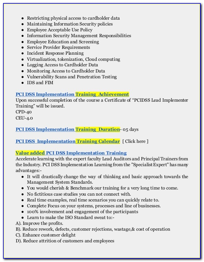 Pci Compliance Policy Templates