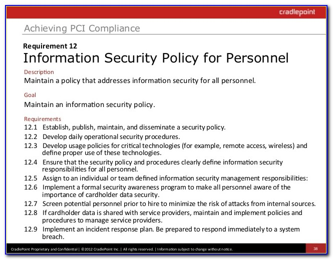 Pci Compliance Security Policy Example