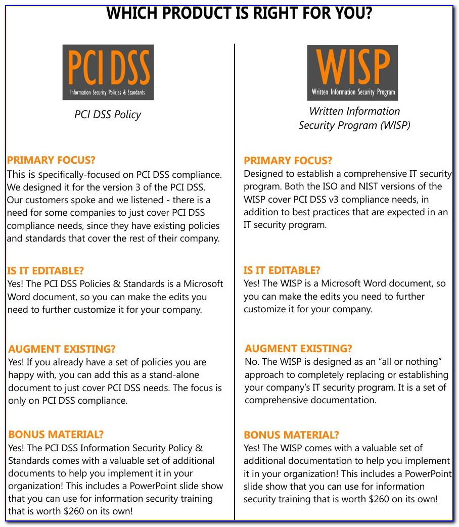 Pci Data Security Policy Template