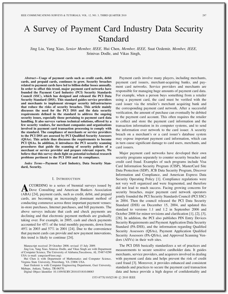 Pci Dss Formal Risk Assessment