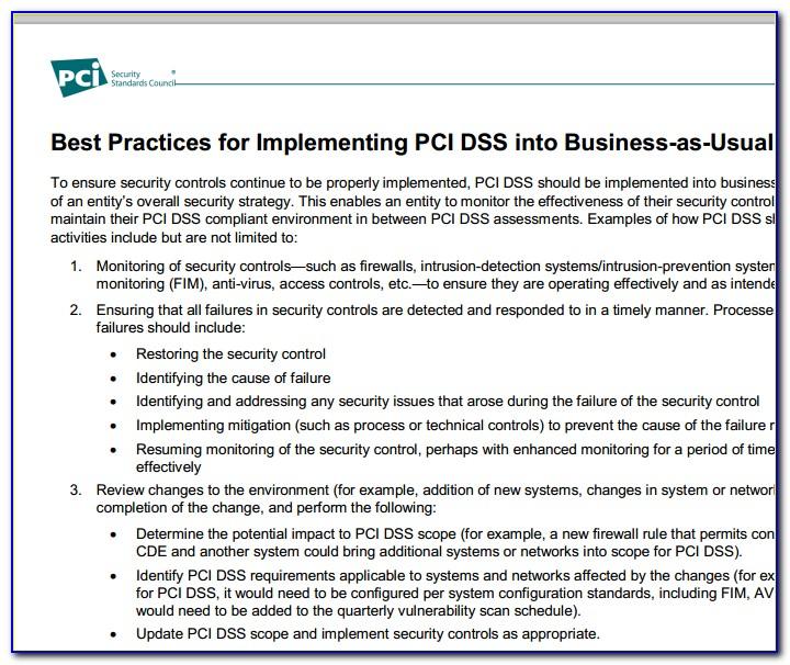 Pci Dss Incident Response Plan Template