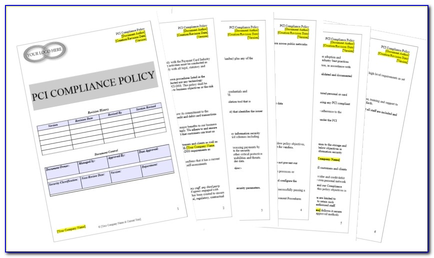 Pci Dss Policy Template