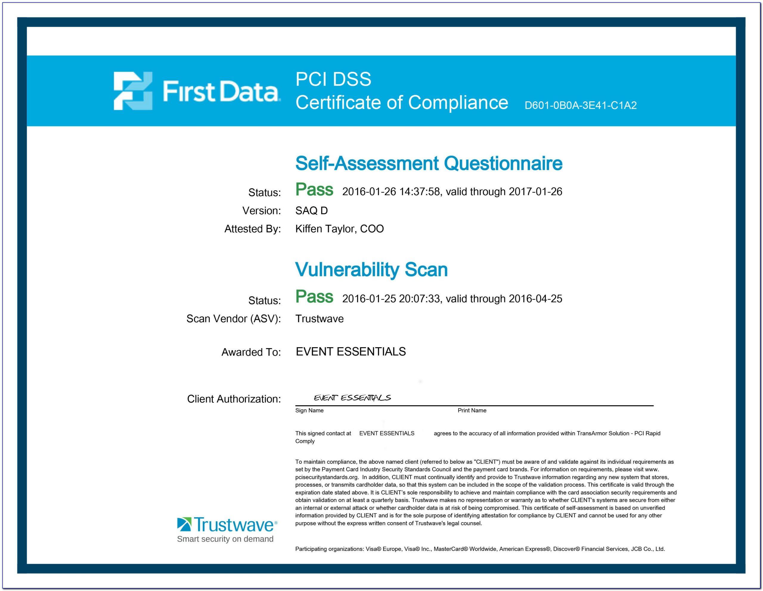 Pci Dss Risk Assessment Example