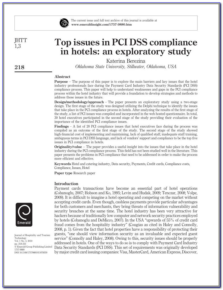 Pci Risk Assessment Sample