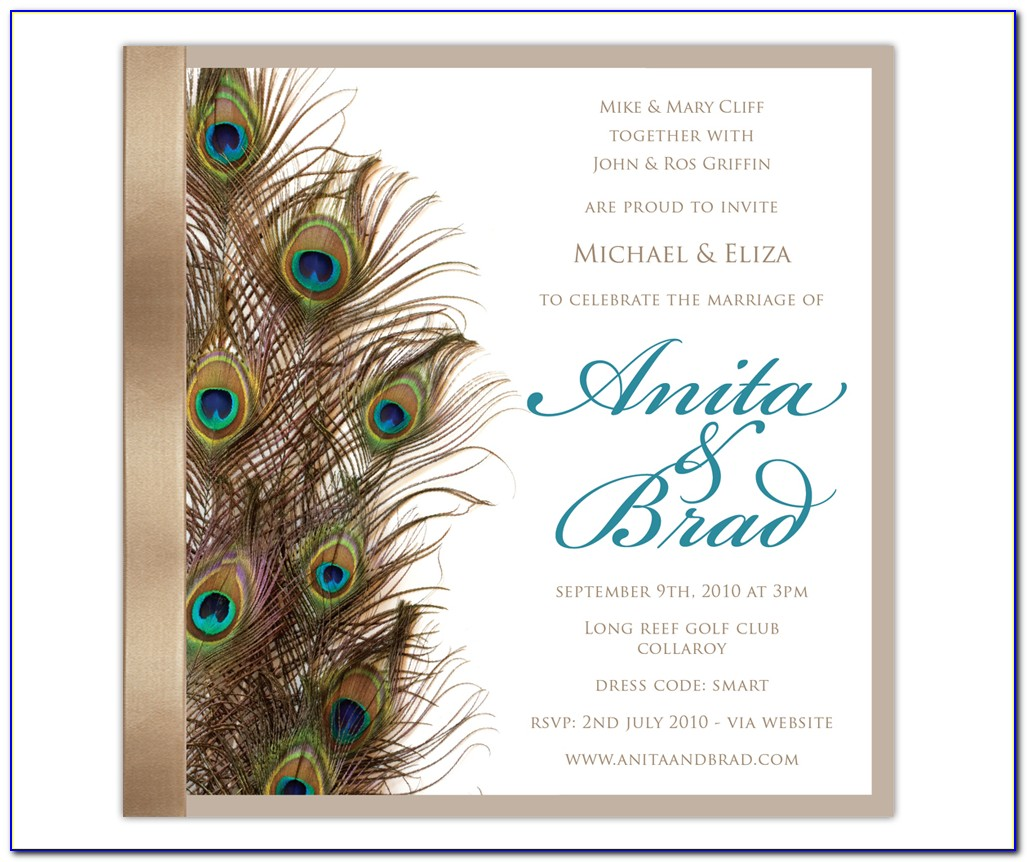 Peacock Birthday Invitations Template Free