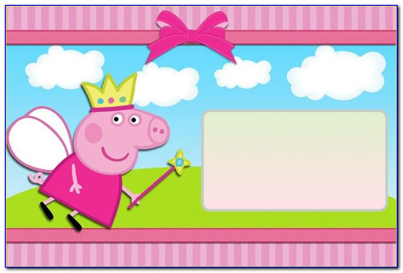 Peppa Pig Birthday Invitation Wording