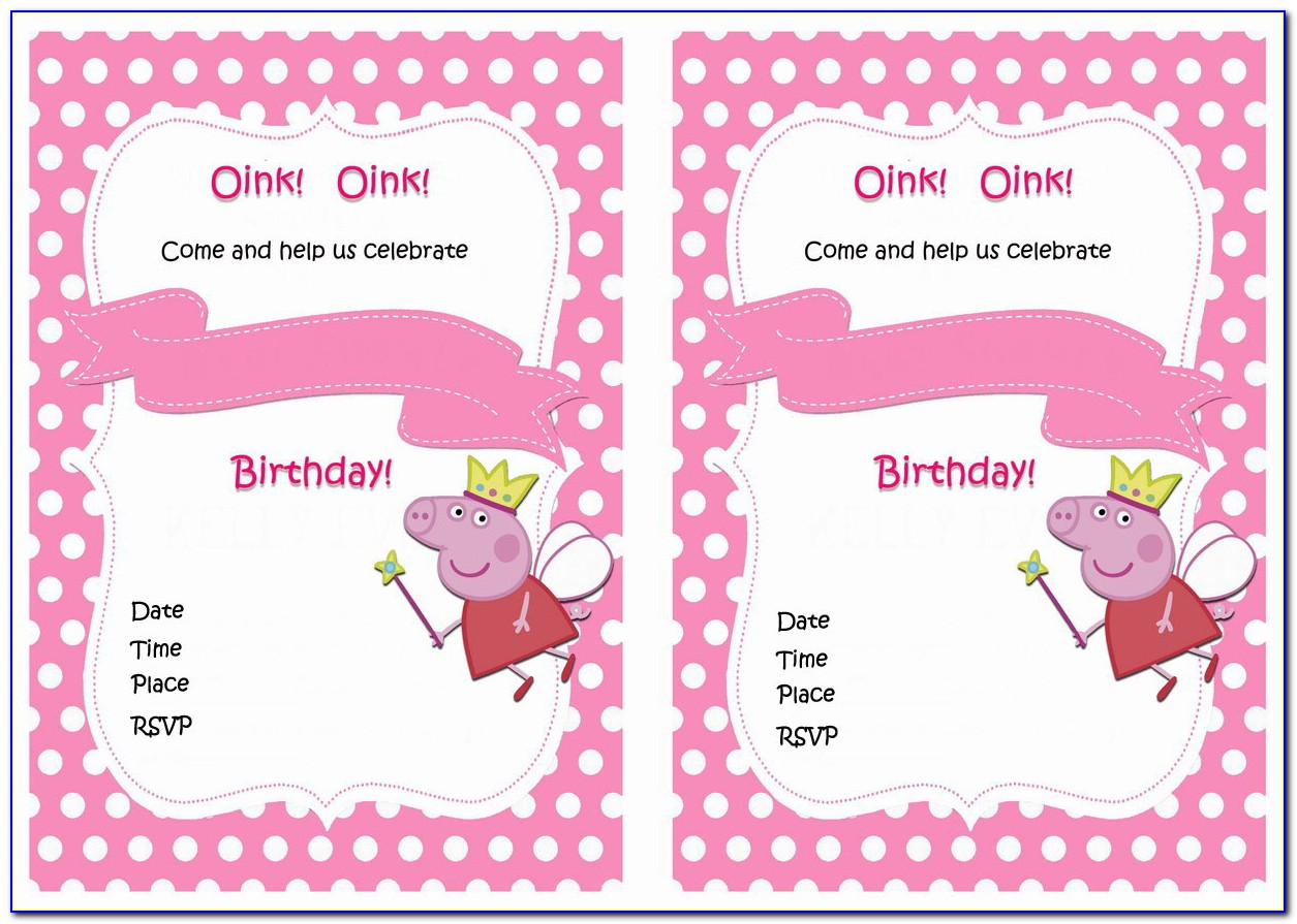 Peppa Pig Invitation Maker